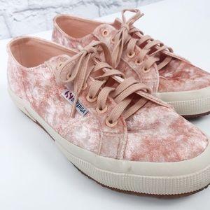 Superga Crushed Velvet Fabric Sneakers